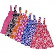 IndiWeaves Baby Girls Cotton Sleevless Printed Frock (Pack of 7)