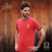 The Nations Collection Vintage Fussball Trikot Herren Spanien L