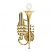 Kare Design Wandlamp Trumpet Jazz Goud