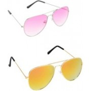 Amour-Propre Sports Sunglasses(Yellow, Pink)