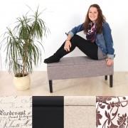Bank Sitzbank Renens Textil 95x36x44 cm ~ Variantenangebot