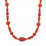 赤めのう デザインネックレス【QVC】40代・50代レディースファッション