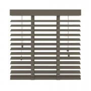 Horizontale jaloezie hout 50 mm - taupe - 100x130 cm - Leen Bakker