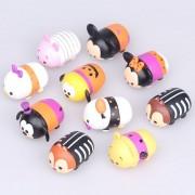10pcs / Lot 5cm Tsum Tsum Donald Mickey Winnie Duck Toys Cute Elf Doll Bain Toy Juguetes Pour Cadeau Halloween