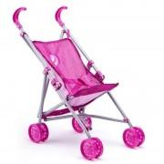 Geen Poppen buggy roze bloemen Roze