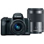 Canon - EOS M50 Mirrorless Camera Two Lens Kit with EF-M 15-45mm f/3.5-6.3 IS STM and EF-M 55-200mm 1:4.5-6.3 IS STM Zoom Lenses - Black