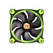 Ventilador Thermaltake Riing 14, LED Verde, 140mm, 1400RPM, Negro/Verde