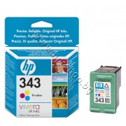 Касета HP 343, Tri-color, p/n C8766EE - Оригинален HP консуматив - касета с глава и мастило
