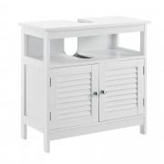 [en.casa]® Vintage Element Ispod Umivaonika - Kupaonski Namještaj – 60x60x30cm – Bijeli
