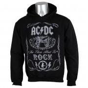 sweat-shirt avec capuche pour hommes AC-DC - Cannon Swig - ROCK OFF - ACDCHD02MB