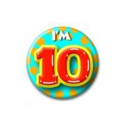 Geen Verjaardags button I am 10