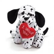 "Valentines Day Plush 8"" Puppy Dalmatian ""I Woof You"""
