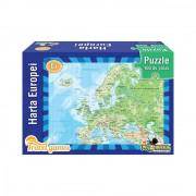 Mini Puzzle educativ- Harta Europei, 100 piese