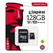 Kingston CANVAS SELECT MICROSDXC 128GB CLASS10 UHS-I 80MB/S SDCS/128GB