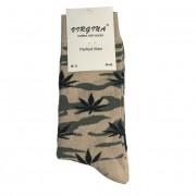 Ponožky bavlněné motiv konopí BZČ vel. 43-46
