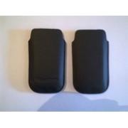 Черен кожен калъф за BlackBerry 9105