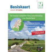 Fietsgids Basiskaart netwerk LF-routes gids + map van 22 kaarten 2018-2019 | Buijten & Schipperheijn
