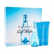 Davidoff Cool Water 100 ml sada toaletní voda 100 ml + tělové mléko 75 ml + sprchový gel 75 ml pro ženy