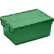 Mehrzweck-Stapelbehälter mit Klappdeckel Inhalt 45 l, grün, VE 4 Stk