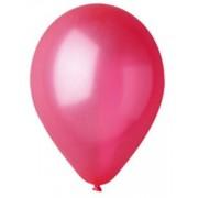100 baloane rotunde rosu metalizate 30 cm