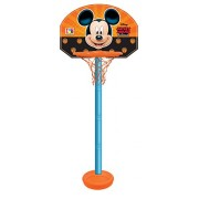 Disney Mickey height adjustable shooting champ basketball set for kids/Easy to assemble stand/adjust according to kid's height/Outdoor games for kids/sports development toys/Multicolor toys for kids (colors may vary from illustration)
