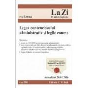 Legea contenciosului administrativ si legile conexe act. 20.01.2016