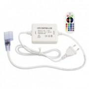 efectoled.com Controlador Larga Distancia Neón LED Flexible RGB, Control Remoto RF 24 Botones