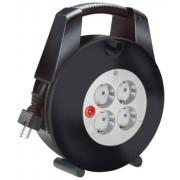 Vario Line Kábeldob 4 dugaszhelyes fekete/világosszürke 5m H05VV-F 3G1,0