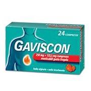 RECKITT BENCKISER H.(IT.) SpA Gaviscon 250 Mg + 133,5 Mg Compressa Masticabile Gusto Fragola 24 Compresse In Blister