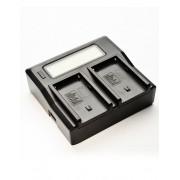 Pachet Digital Power Incarcator dual LCD pentru acumulator Sony NP FM50 Digital Power NP F960 F970 acumulator pentru Sony Digital Power NP F960 F970 acumulator pentru Sony