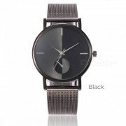 Creative Stainless Steel Band Digital Wristwatches Simple Casual Quartz Watches Gold