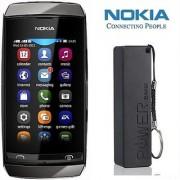 Nokia Asha 310 (1 year Warranty Bazaar Warranty) with 2600 mAh Powerbank