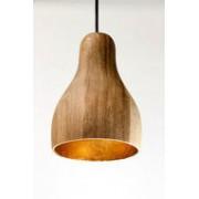Kinta Hanglamp Hout Acacia Sixty Naturel/Goudblad
