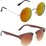 Zyaden Round, Round Sunglasses(Multicolor)