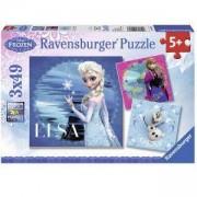 Пъзел Ravensburger 3х49 елемента, Замръзналото кралство, 700648