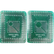 Placa test SMD epoxid (L x l) 46 x 38 mm, 35 µm, distanta intre contacte 2,54 mm, Conrad TQFP32‑100P‑32‑64P