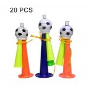 20 PCS Copa De Europa Copa Mundial De Futbol De Juego Props Horn 3 Tonos Football Horn Niños Juguetes Con Cuerda, Longitud: 13.5cm, Color Al Azar Entrega