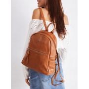 Stylowy plecak damski szkolny plecaczek miejski Davide Jones - BRĄZOWY