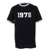 geschenkidee.ch Jahrgangs-Shirt für Erwachsene Dunkelblau/Weiss, Grösse XL