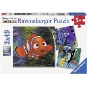 Puzzle In Cautarea Lui Nemo, 3X49 Piese Ravensburger