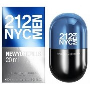 Carolina herrera 212 nyc men pills 20 ml eau de toilette edt spray profumo uomo