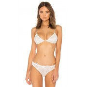 Free People Essential Lace Triangle Bra in White. - size S (also in L,M,XS)
