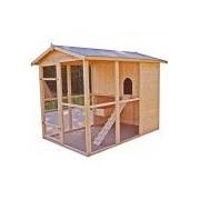 Foresta Poulailler grande taille 4.69m² avec toit double pente bitumé