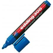 Marker permanent, varf rotund, 1.5-3mm, albastru, EDDING 300