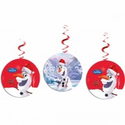 3 spirale decorative Olaf Christmas