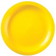 Plato de Plastico Llano Amarillo Round PP Ø220mm (600 Uds)