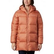 Columbia Puffect chamarra de invierno con capucha para mujer, repelente al agua, Rosa Nova., S
