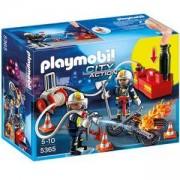 Комплект Плеймобил 5365 - Пожарникар с водна помпа, Playmobil, 291103