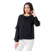 Paola P. by PaolaPrata Blusa made in Italy con rouche