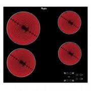 Стъклокерамичен плот за вграждане Whirlpool AKT8090/NE, 6200W, 4 нагревателни зони, сензорно управление, защита от деца, черен
